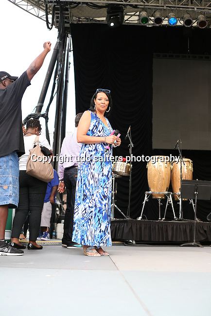 Liz Black of Sunday Praise with Liz Black Hosts WLIB's 6th Annual Gospel Concert at Central Park SummerStage
