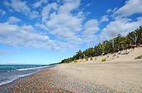 A beautiful sunny, early fall day at Twelvemile Beach in the Pictured Rocks National Lakeshore. Grand Marais, MI