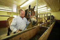 Horses are used both for transport, in agriculture and for rehabilitation of inmates...Bastøy Prison/Horten/Norway. ©Fredrik Naumann/Felix Features