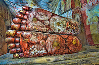 The giant feet of the Buddha. (Photo by Matt Considine - Images of Asia Collection)