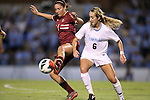 04 October 2012: Boston College's Victoria DiMartino (1) and UNC's Summer Green (6). The University of North Carolina Tar Heels defeated the Boston College Eagles 1-0 at Fetzer Field in Chapel Hill, North Carolina in a 2012 NCAA Division I Women's Soccer game.