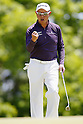 Toru Taniguchi, MAY 13, 2012 - Golf : Toru Taniguchi reacts his birdie putt on the 8th hole during the PGA Championship Nissin Cupnoodles Cup 2012 final round at Karasuyamajo Country Club, Tochigi, Japan. (Photo by Yusuke Nakanishi/AFLO SPORT) [1090]