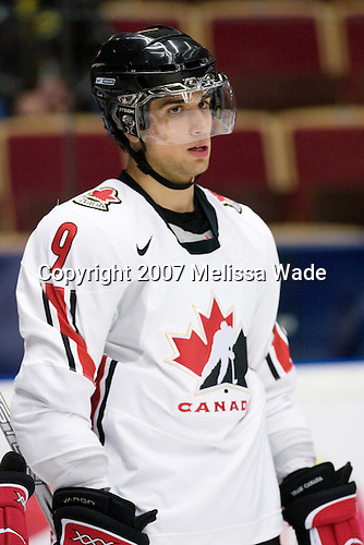 Andrew Cogliano (Woodbridge, ON - University of Michigan Wolverines) - Team Canada warms up prior to their gold medal game vs. Russia in the 2007 World Juniors Championship on January 5, 2007 at Ejendals Arena in Leksand, Sweden.