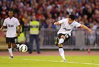FUSSBALL  INTERNATIONAL Testspiel 2012/2013  08.08.2012 Manchester United  - FC Barcelona  Shinji Kagawa (Manchester United FC) am Ball