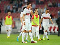 FUSSBALL   INTERNATIONAL   UEFA EUROPA LEAGUE   SAISON 2013/2014    Qualifikation, Rueckspiel VfB Stuttgart - HNK Rijeka      29.08.2013 Enttaeuschung VfB, Benedikt Roecker (mitte)