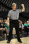 18 February 2016: Referee Jennifer Rezac. The Wake Forest University Demon Deacons hosted the University of Notre Dame Fighting Irish at Lawrence Joel Veterans Memorial Coliseum in Winston-Salem, North Carolina in a 2015-16 NCAA Division I Women's Basketball game. Notre Dame won the game 86-52.
