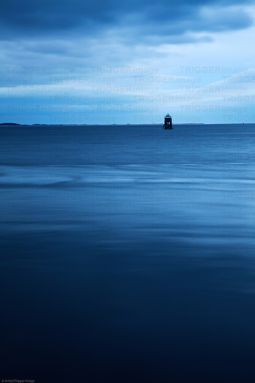 Tayport Pile Light in the Firth of Tay built 1845 deactivated c1960 Tayport Fife Scotland