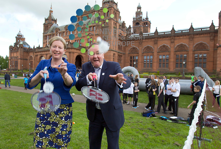 The International Olympic Committee (IOC) today shortlisted Glasgow in the race to host the 2018 Youth Olympic Games.Glasgow City Councillor Gordon Matherson with the Minister for Commonwealth Games and Sport Shona Robison(left) both helped launch the bid for 2018 Youth Olympic Games in Glasgow. Mr Matheson, Leader of Glasgow City Council, said: &ldquo;Glasgow is extremely proud to have been granted the privilege of being shortlisted by the IOC. We will continue to work hard to show how this city can be a valuable partner of the Olympic Movement to better the lives of young people both here and across the globe. Glasgow&rsquo;s commitment to its young people is unwavering as we continue the journey to transform our city and its economy and so create opportunities that can help our young people to become champions in their own lives.&rdquo;<br /> .Picture: Universal News And Sport (Europe). 19 June 2012. www.unpixs.com.