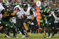 Tampa, FL - September 2, 2016: Towson Tigers quarterback Morgan Mahalak (6) in action during game between Towson and USF at the Raymond James Stadium in Tampa, FL. September 2, 2016.  (Photo by Elliott Brown/Media Images International)