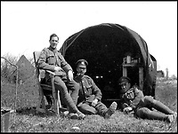 BNPS.co.uk (01202 558833)<br /> Pic: PoppylandPublishing/BNPS<br /> <br /> Sergeant Stanley, now with the Army Ordnance Corps, takes his turn in front of the camera for this photograph.<br /> <br /> Left to gather dust in a darkened attic for decades, they are the diaries and secret photos documenting the hell and horrors of the battlefields of the First World War.<br /> <br /> It wasn't until Heather Brodie had a clear out that the unknown but remarkable archive kept by her late father, Sergeant Horace Reginald Stanley, came to light.<br /> <br /> His emotive diary and remarkable images taken with a camera he smuggled into the trenches paint a harrowing picture of life on the front line at Ypres and The Somme.<br /> <br /> He wrote of how he witnessed comrades next to killed by German shelling and described the hopelessness and terror one felt as the men waited for their turn to be hit.<br /> <br /> His writings were even more poignant as his elder brother Frederick was killed after his dugout suffered a direct hit near Arras.
