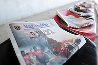 A copy of the local newspaper, advertising the match. European Rugby Champions Cup match, between RC Toulon and Bath Rugby on January 10, 2016 at the Stade Mayol in Toulon, France. Photo by: Patrick Khachfe / Onside Images