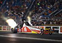 Jul 8, 2016; Joliet, IL, USA; NHRA top fuel driver Doug Kalitta during qualifying for the Route 66 Nationals at Route 66 Raceway. Mandatory Credit: Mark J. Rebilas-USA TODAY Sports