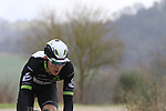 Johann Van Zyl (RSA) Team Dimension Data on gravel sector 6 Pieve a Salti during the 2017 Strade Bianche running 175km from Siena to Siena, Tuscany, Italy 4th March 2017.<br /> Picture: Eoin Clarke | Newsfile<br /> <br /> <br /> All photos usage must carry mandatory copyright credit (&copy; Newsfile | Eoin Clarke)