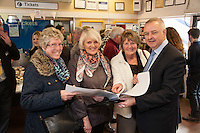 Viewing plans from left are Friends of Kidsgrove Station Helen Owen, Joan Ratcliffe, Mary Maxfield and County Councillor Ben Adams