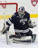 Patrick Spano (Yale - 30) - The Harvard University Crimson tied the visiting Yale University Bulldogs 1-1 on Saturday, January 21, 2017, at the Bright-Landry Hockey Center in Boston, Massachusetts.