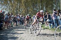 John Degenkolb (DEU/Trek-Segafredo) followed by Greg Van Avermaet (BEL/BMC)<br /> <br /> 115th Paris-Roubaix 2017 (1.UWT)<br /> One Day Race: Compi&egrave;gne &rsaquo; Roubaix (257km)