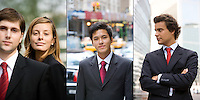 Young executive portraits in Paris, France and New York City, USA.