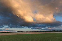 Dramatic Low Clouds Over Landscape During Sunset, Estonia