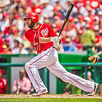 9 June 2013: Washington Nationals outfielder Jayson Werth in action against the Minnesota Twins at Nationals Park in Washington, DC. The Nationals shut out the Twins 7-0 in the first game of their day/night double-header. Mandatory Credit: Ed Wolfstein Photo *** RAW (NEF) Image File Available ***