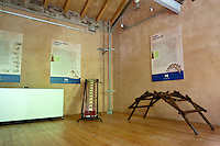 Stanze del Ecomuseo Adda di Leonardo con le riproduzioni dei progetti di Leonardo Da Vinci...The Adda ecomuseum's rooms, with the riproductions of Leonardo da Vinci's projects