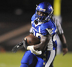 Water Valley's Jeoffrey Gordon (29) runs vs. Coffeeville in Water Valley, Miss. on Friday, August 26, 2011.