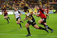 Ma'a Nonu scores the Hurricanes' first try during the Super 14 rugby match between the Hurricanes and Crusaders at Westpac Stadium, Wellington, New Zealand on Friday, 2 April 2010. Photo: Dave Lintott / lintottphoto.co.nz