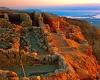 Masada Ruins at dawn, Masada National Park, Israel