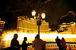 The fountains outside of the Bellagio Hotel in Las Vegas, Nevada.