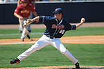 Ole MIss' Austin Wright (22) pitches against Alabama at Oxford-University Stadium in Oxford, Miss. on Sunday, March 20, 2011.  (AP Photo/Oxford Eagle, Bruce Newman)