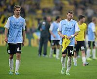FUSSBALL   DFB POKAL 1. RUNDE   SAISON 2013/2014 TSV 1860 Muenchen - Borussia Dortmund         24.09.2013 Enttaeuschung 1860 Muenchen: Kai Buelow (li) und Benjamin Lauth