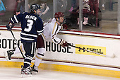 Austin Block (UNH - 3), Michael Matheson (BC - 5) - The Boston College Eagles and University of New Hampshire Wildcats tied 4-4 on Sunday, February 17, 2013, at Kelley Rink in Conte Forum in Chestnut Hill, Massachusetts.