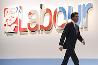 &copy; Licensed to London News Pictures. 28/09/2011. LONDON, UK. Ed Miliband, Leader of The Labour Party walks to the stage at The Labour Party Conference in Liverpool today (28/09/11). Photo credit:  Stephen Simpson/LNP