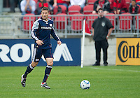22 May 2010: New England Revolution midfielder Chris Tierney #8 in action during a game between the New England Revolution and Toronto FC at BMO Field in Toronto..Toronto FC won 1-0.....
