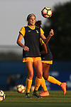 09 September 2016: West Virginia's Grace Cutler. The Duke University Blue Devils hosted the West Virginia University Mountaineers at Koskinen Stadium in Durham, North Carolina in a 2016 NCAA Division I Women's Soccer match. West Virginia won the match 3-1.