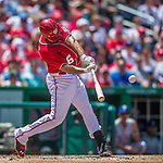 1 June 2014: Washington Nationals infielder Anthony Rendon in action against the Texas Rangers at Nationals Park in Washington, DC. The Rangers shut out the Nationals 2-0 to salvage the third the third game of their 3-game inter-league series. Mandatory Credit: Ed Wolfstein Photo *** RAW (NEF) Image File Available ***
