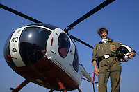 Evelina Corneli. La prima elicotterista donna del Corpo Forestale..Evelina Corneli. The first woman, helicopter pilot in the Forestry Department. ...