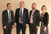 From left are Adam Cotterill with speaker Jake Kelly, MD of East Midlands Trains, Nottingham City Business Club president James Simmonds and Ruth Swaiin of Actons