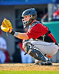 4 March 2012: Houston Astros' catcher Chris Wallace in action against the Washington Nationals at Space Coast Stadium in Viera, Florida. The Astros defeated the Nationals 10-2 in Grapefruit League action. Mandatory Credit: Ed Wolfstein Photo