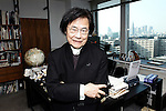 World renowned Japanese architect Kisho Kurokawa poses for a photo at his offices in Tokyo, Japan. Kurokawa, who once unsuccessfully ran for a seat in Japan's parliament, died 12 October 2007 aged 73.