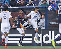 Foxborough, Massachusetts - May 31, 2015: In a Major League Soccer (MLS) match, the New England Revolution (blue/white) defeated LA Galaxy (white), 2-2, at Gillette Stadium.