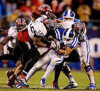 The Cincinnati Bearcats vs. the Duke Blue Devils during the 2012 Belk Bowl at Bank of America Stadium in Charlotte, NC...Photo by: PatrickSchneiderPhoto.com