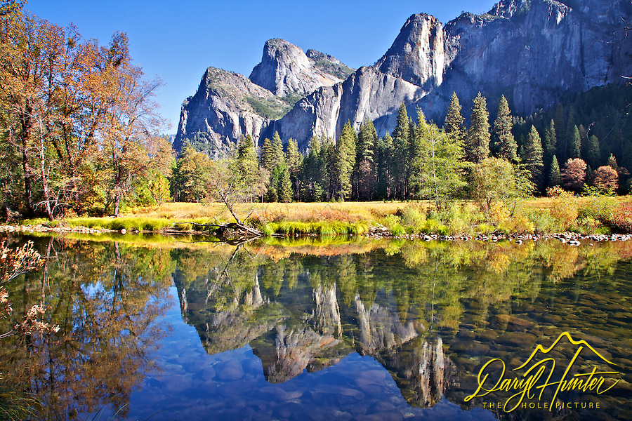 Sierra Nevada Reflections in the Merced River in Yosemite National Park