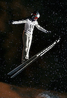 Ski jumping in Schrøderbakken, near the center of Oslo.