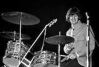Ringo Starr performing with the Beatles in a 1965 concert at the Cow Palace in San Francisco, Ca..(photo/Ron Riesterer)