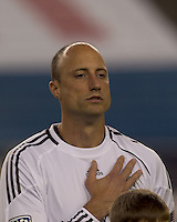 Seattle Sounders FC goalkeeper Kasey Keller (18). The New England Revolution defeated the Seattle Sounders FC, 3-1, at Gillette Stadium on September 4, 2010.