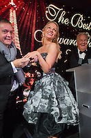 Pamela Anderson &amp; Massimo Gargia  : &quot; The Best &quot; 40th Edition &agrave; l'h&ocirc;tel George V.<br /> France, Paris, 27 janvier 2017.<br /> ' The Best ' 40th Edition at the George V hotel in Pais.<br /> France, Paris, 27 January 2017