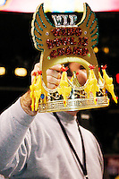 The crown they are all battling for at the 13th annual Wing Bowl, held in Philadelphia on February 4, 2005 at the Wachovia Center.<br /> <br /> The Wing Bowl is a competitive eating event in which eaters try and down the most hot wings in 30 total minutes in front of a crowd of 10,000 plus people.  The real show however is all around the eaters, from the various scantily clad women, known as &quot;Wingettes&quot;, that make up competitors' entourages to the behavior of the fans themselves.