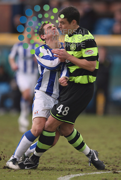 Darren O'Dea and Kili's Craig Bryson in action during The 125th Active Nation Scottish Cup Round 6 match Between Kilmarnock and Celtic at Rugby Park 13/03/10..Picture by Ricky Rae/universal News & Sport (Scotland).