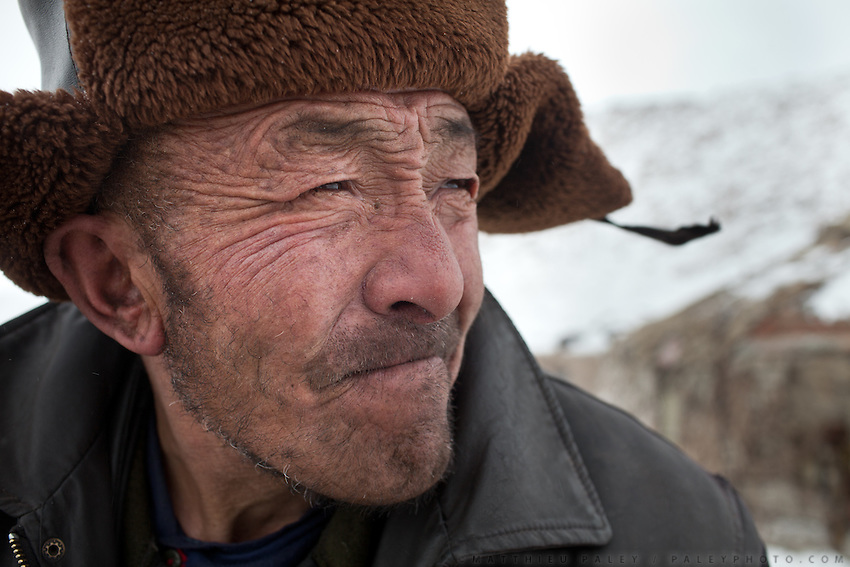 Portrait of Er Ali Boi..In and around Ech Keli, Er Ali Boi's camp, one of the richest Kyrgyz in the Little Pamir...Trekking with yak caravan through the Little Pamir where the Afghan Kyrgyz community live all year, on the borders of China, Tajikistan and Pakistan.