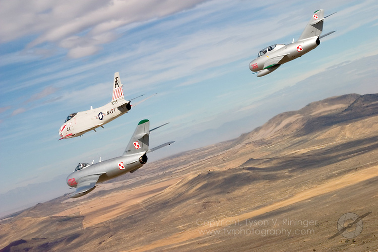 The MiG-Fury Fighters is a group of Korean and Vietnam-Era aircraft consisting of the US Navy FJ-4B flown by Dr. Richard 'Doc' Sugden, a Polish Air Force MiG-15 flown by David 'Cujo' Macaluso and Peter 'Bamboo' Kline in the MiG-17.
